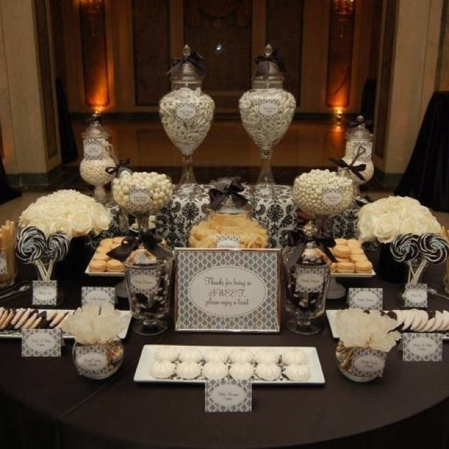 Elegant dessert table and Elegant party decorations
