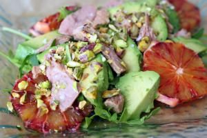 10 Healthy Spanish Salads to Beat the Heat: Tuna Belly, Blood Orange and Avocado Salad with Pistachios
