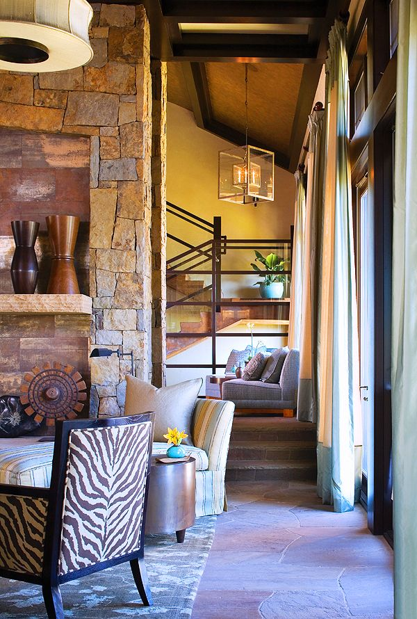 Zebra Print Chair INTERIOR DESIGN By Worth Interiors PHOTO By Emily Minton  Redfield MORE AT Http. Mountain LivingMountain HomesColorado ...