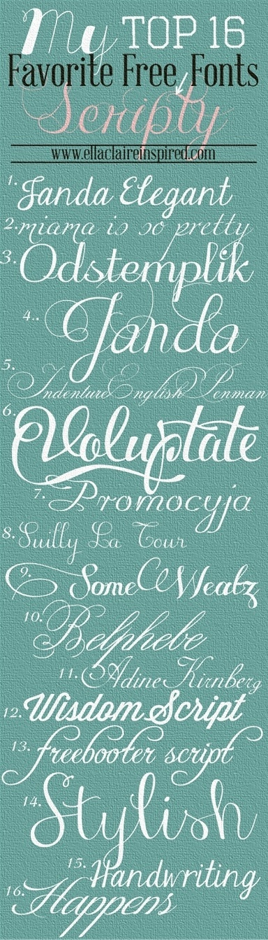 Beautiful fonts to consider...