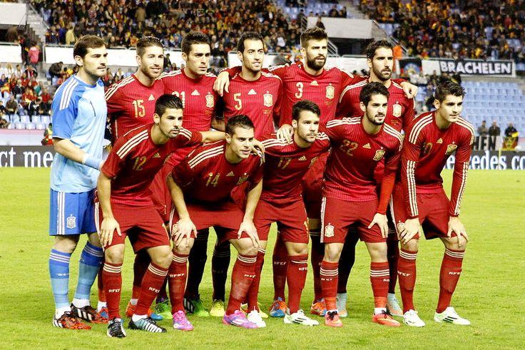 Equipos de fútbol: ESPAÑA Selección 2014-2018