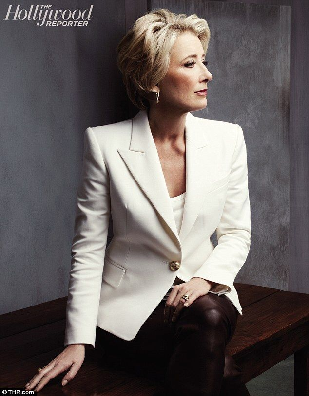 Emma Thompson looks absolutely fabulous!  life goal: look as great as Emma Thompson at her age.