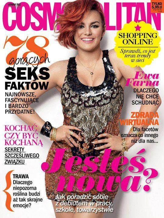COSMOPOLITAN edycja polska / Ewa Farna / listopad 2012    www.cosmopolitan.pl