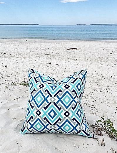 Outdoor Cushions Outdoor Pillows Aqua Blue Grey Pillows Turquoise