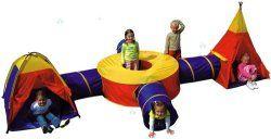 Namiot dziecięcy 4w1 Igloo Wigwam Łącznik Tunel