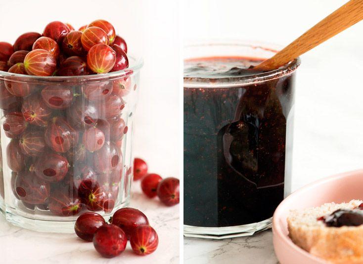 Stikkelsbærmarmelade er virkelig lækkert og denne stikkelsbær opskrift med vanilje og lidt lemon er nem og enkel - få opskriften her