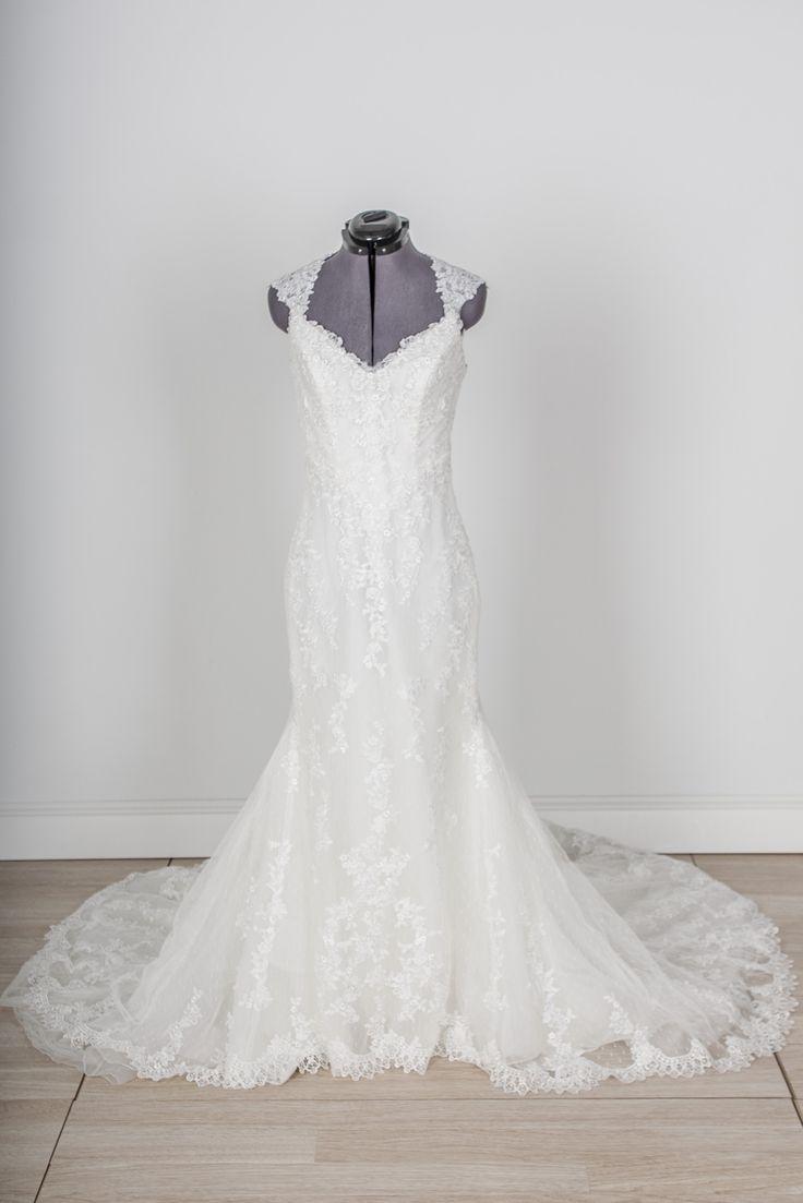 cap sleeve wedding dresses borrow wedding dress Pronovias Laren wedding dress with lace cap sleeves available to rent OR buy online