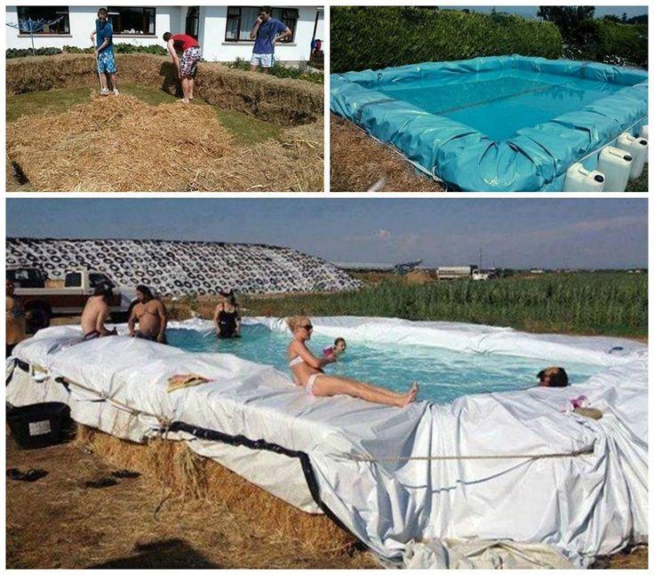 Best 25 hay bale pool ideas on pinterest redneck pool for Hay bail pool