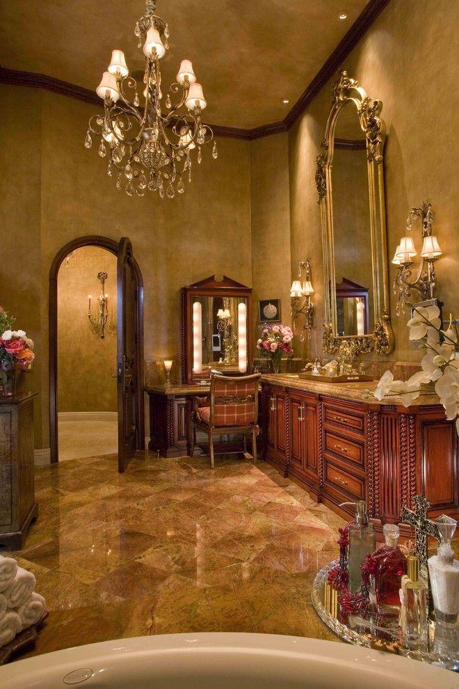 Decorative Pink Wall Paint Decor Ideas In Bathroom Mediterranean Design  Ideas With Decorative Arch Door Arch. Gold BadVictorian ...