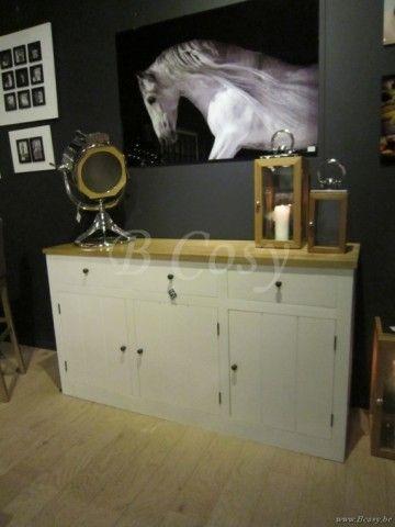 """PR Interiors Alice Dressoirkast in wit geschilderde eik en in weathered oak-eik Top-blad-White Oak Base 165<span style=""""font-size: 0.01pt;""""> PR-Rogiers-Home-Interiors-CHR/275/13 dressoir-buffet-dressoir-buffet-buffets-bahut-bahuts-b </span>"""