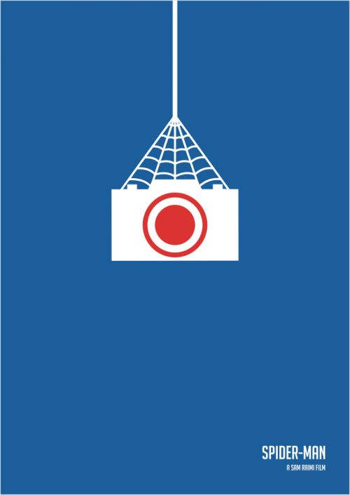 spider man minimalist poster - Google Search  Inspiration for ad