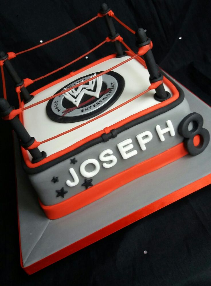 WW Wrestling ring cake                                                                                                                                                                                 More