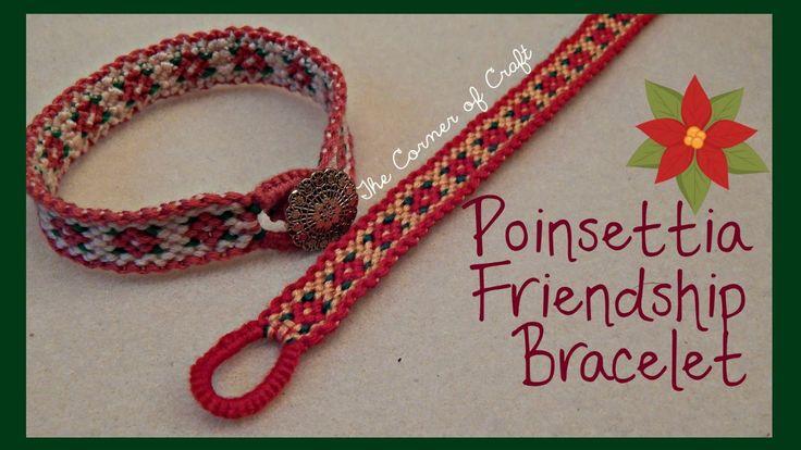 Christmas Poinsettia Flower Bracelet How To // Friendship Bracelet // ¦ ...