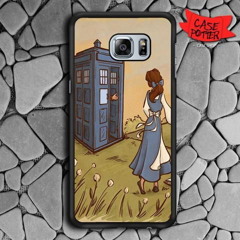 Princess Disney Tardis Samsung Galaxy S7 Edge Black Case