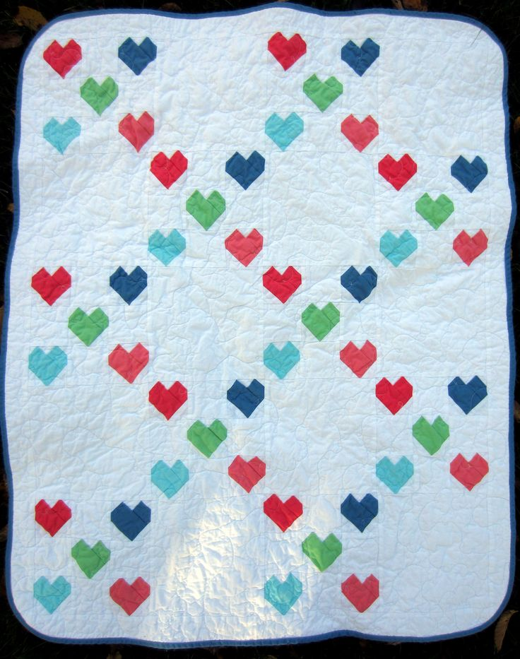 (chain chain chain) chain of hearts baby quilt mollybquilts.blogspot.com