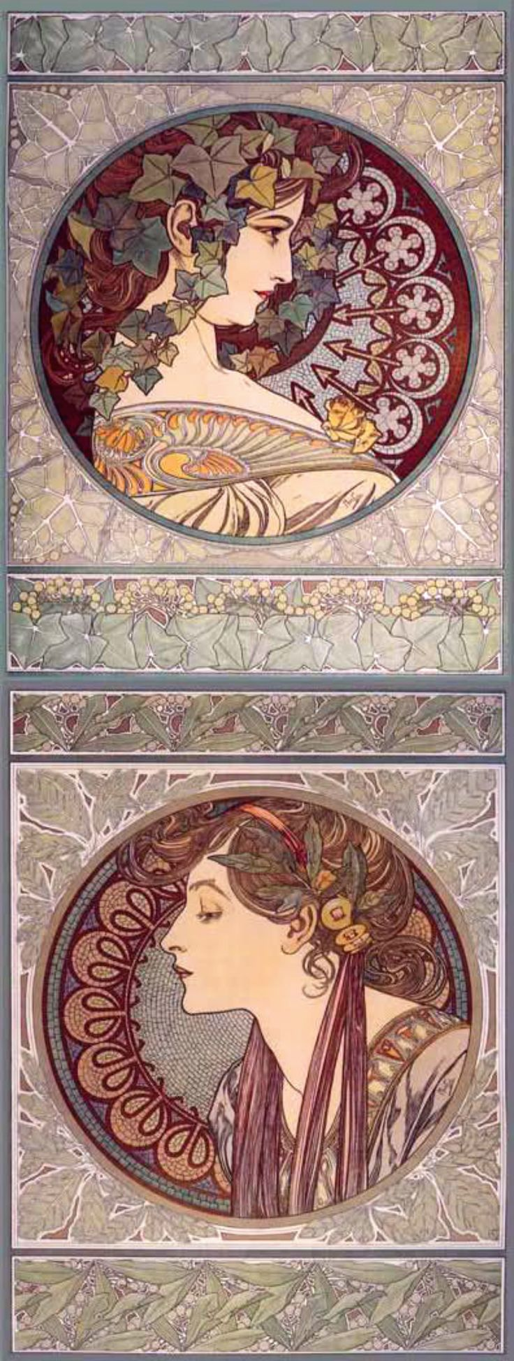 """Alphonse Mucha l ~ Click through the large version for a full-screen view (with a black background in Firefox). Set your computer for full-screen. ~ Miks' Pics """"Alphonse Mucha l"""" board @ http://www.pinterest.com/msmgish/alphonse-mucha-l/"""