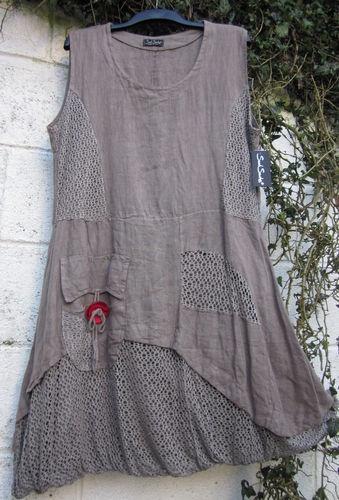 QUIRKY SARAH SANTOS DRESS TUNIC PUFFBALL MOCHA BNWT S 38 LAGENLOOK ETHNIC   eBay