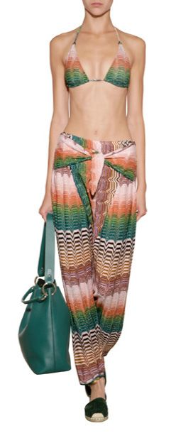 Indulge your wanderlust with these vivid variegated knit harem pants from Missoni Mare #Stylebop