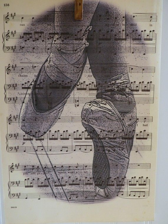 Hey, I found this really awesome Etsy listing at https://www.etsy.com/listing/72681134/vintage-music-sheet-print-ballet