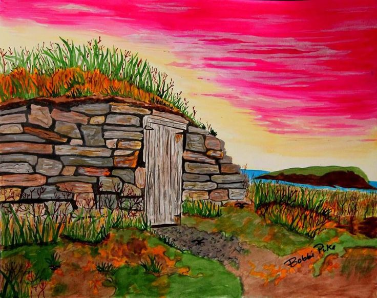 Bird Island Roots by Bobbi Pike of Bobbi Pike Art. Elliston, Newfoundland was once known as Bird Island Cove years ago mainly because two Islands- North and South Bird Island, which lie off the south entrance of this beautiful community. Have you been to Elliston and found out why they are the Root Cellar Capital of the World?? Available at www.bobbipikeart/shop/bird-island-roots/