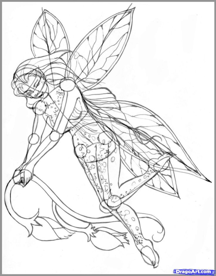 How to Draw Realistic Fairies, Draw a Realistic Fairy