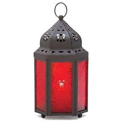 Hanging Tabletop Candle Lanterns Color Glass Panels Blue Purple Amber Red Green | eBayUS $9.99 $8.95 Standard Shipping