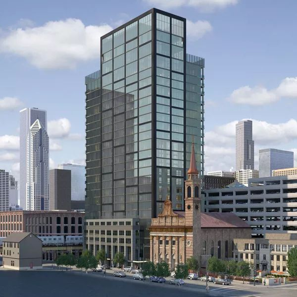 3Eleven - Chicago > Located at 311 W. Illinois, this 24-story, 245-unit glassy tower will rise immediately west of Assumption Catholic Church and will reserve a portion of its planned 109 parking spaces for church use. Developed by John Buck Company and designed by FitzGerald Associates, the 298-foot tower will also contain 3,000 square feet of retail and a rooftop amenity level with fitness center, outdoor terrace, and swimming pool.> 13012017.