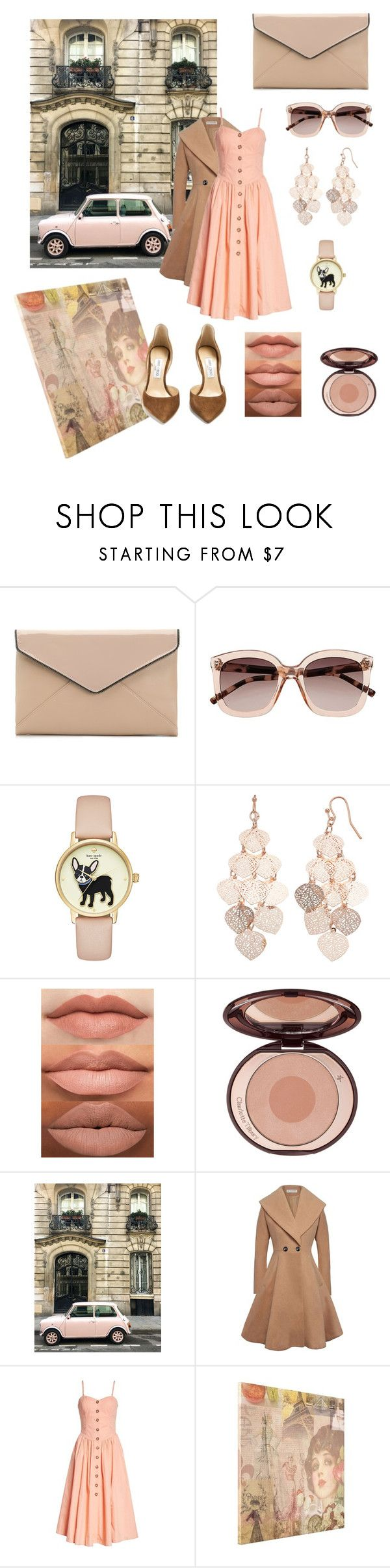 """Nude and Pink in Paris"" by modestmissy ❤ liked on Polyvore featuring La Diva, Witchery, LC Lauren Conrad, Free People, Jimmy Choo, parisfashionweek and Packandgo"