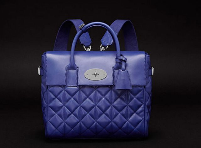 Mulberry Cara Delevingne Quilted Blue Backpack