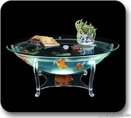 Best Fish Tank Coffee Tables Images On Pinterest Coffee - Acrylic aquariumfish tank clear round coffee table with acrylic