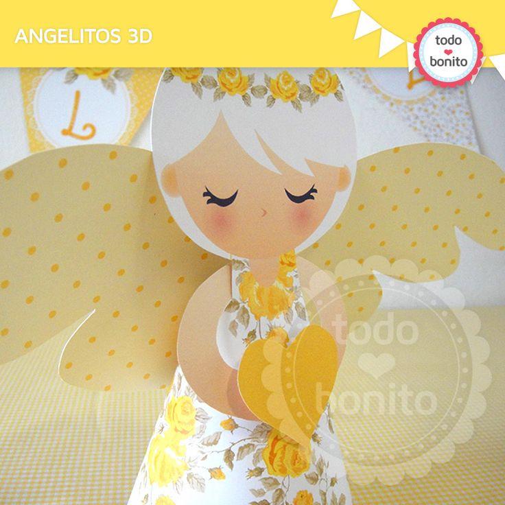 Angelitos 3D Mi Primera Comunión