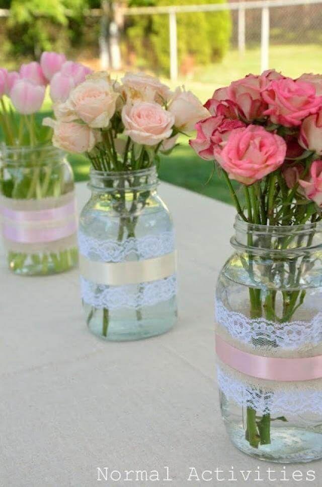 29 compositions florales de bricolage Mason Jar pour une rénovation de décoration intérieure mignonne et peu coûteuse