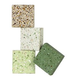 Buyer's Guide to Green Countertop Materials - Green Home Guide by USGBC.  I like the idea and look of Terrazzo, it looks a lot like granite.