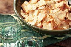 Heerlijk recept uit de Allerhande! Chips van knolselderij!! #healthy #food #chips #gezond