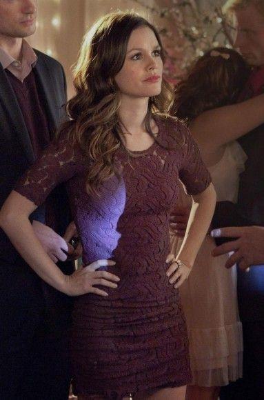 Zoe's lace burgundy bodycon dress on Hart of Dixie.  Outfit Details: http://wornontv.net/1233/ #HartofDixie