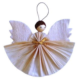Homemade Angel Christmas Ornaments