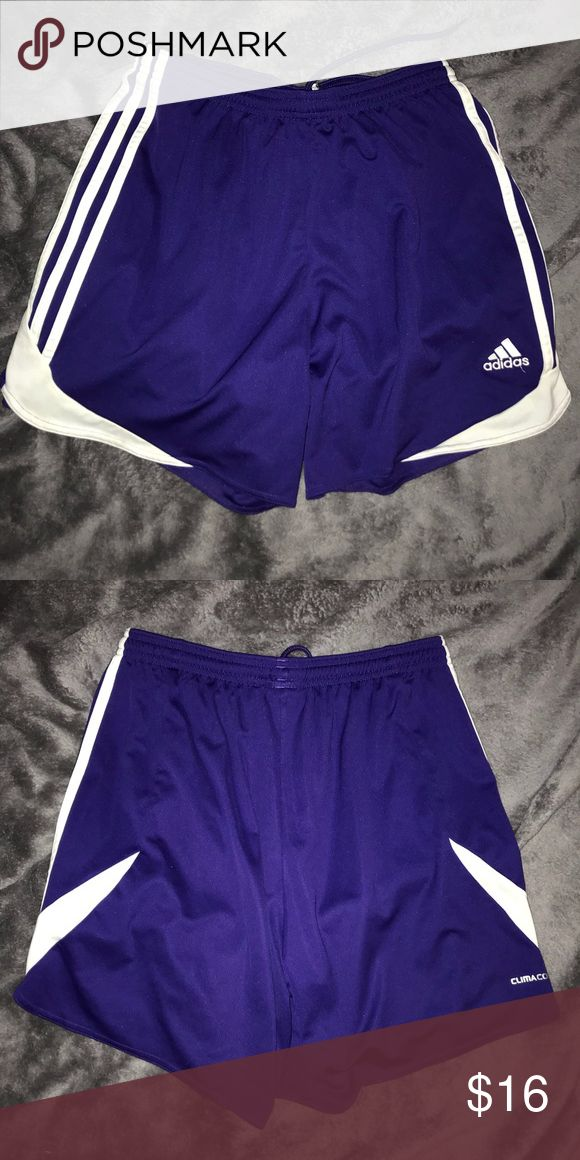 Purple Adidas Soccer Shorts Excellent condition, worn once or twice, and very good quality materials. adidas Shorts