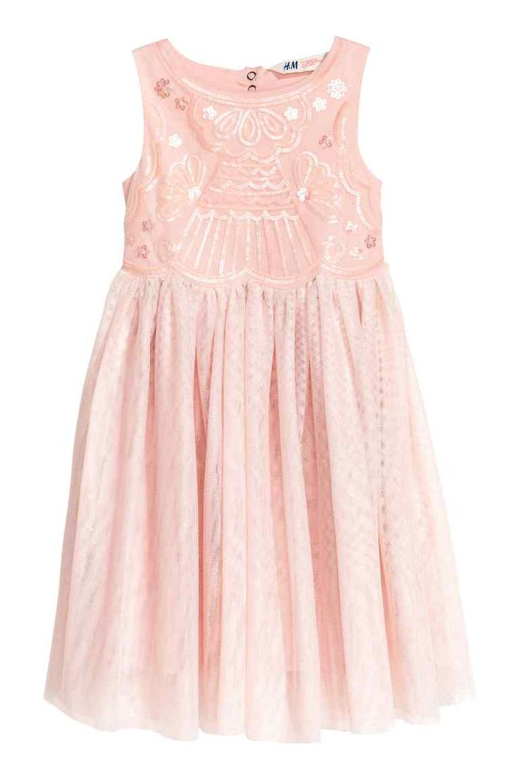 Tulle dress - Powder pink - Kids | H&M GB
