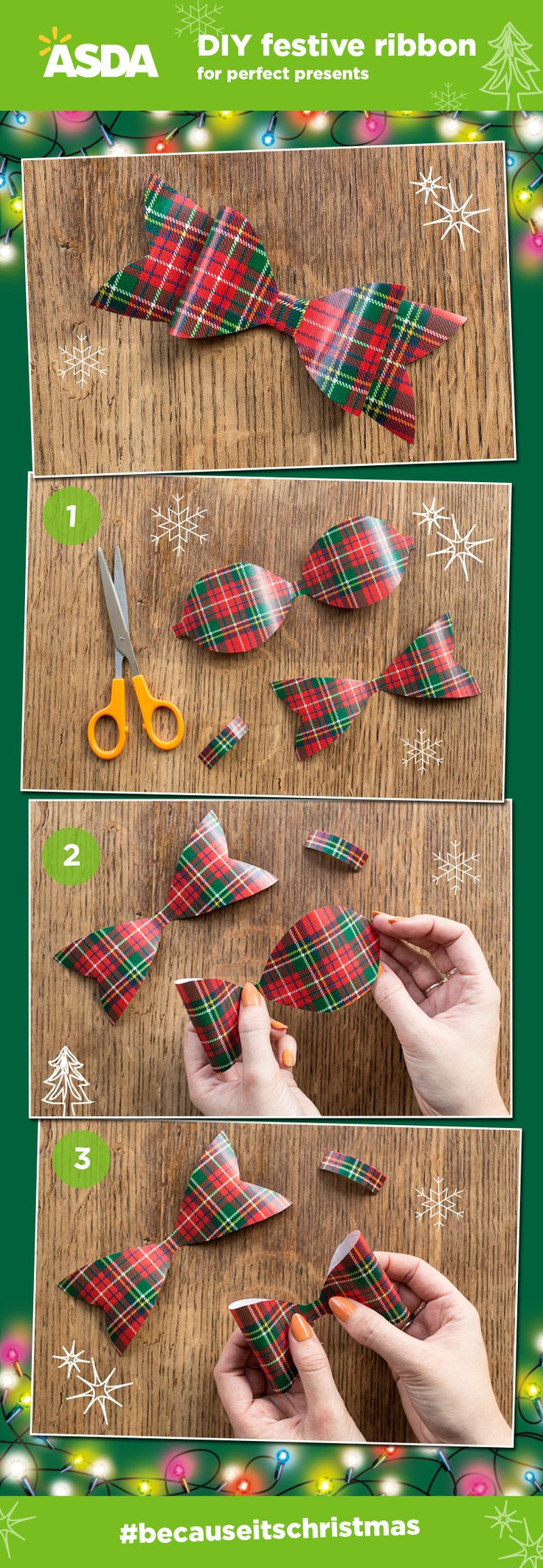 Festive ribbons for perfect presents