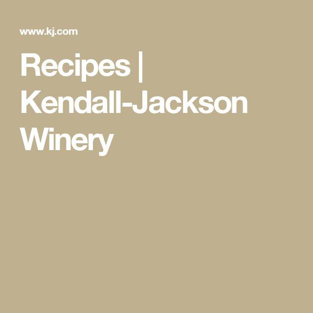 Recipes   Kendall-Jackson Winery
