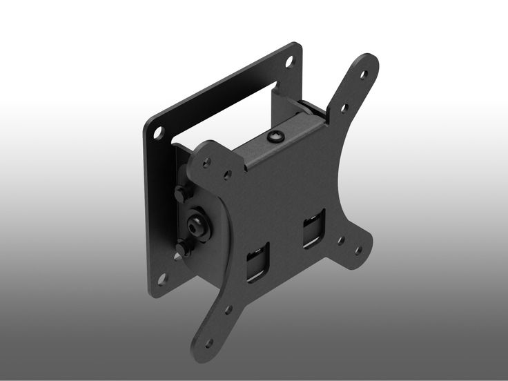 An assembled view of the tilting / adjustable VESA ready wall mount