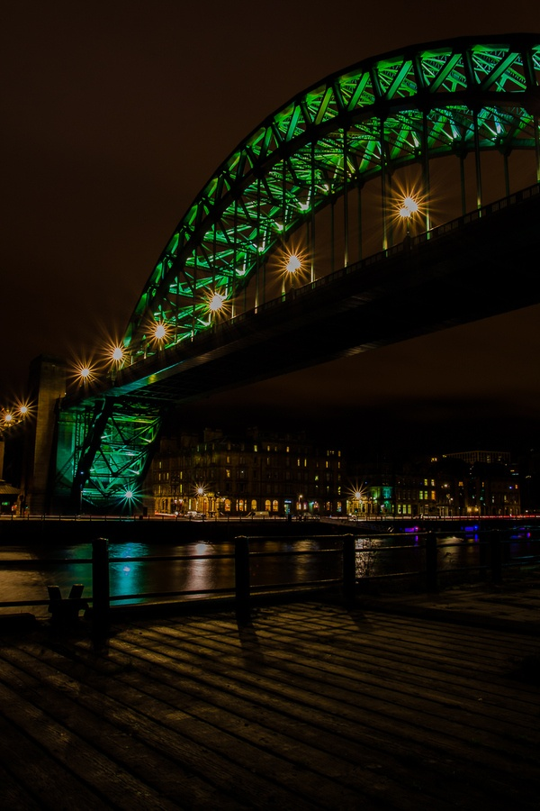 River Tyne and Tyne Bridge at night