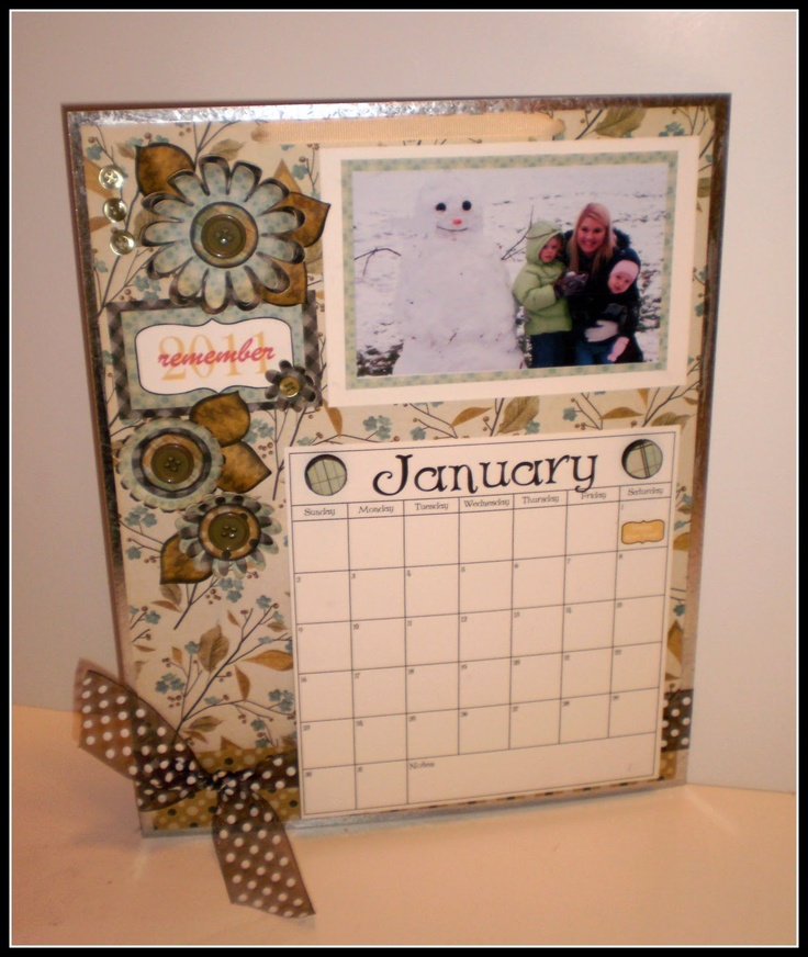 Handmade Calendar Tutorial : Magnetic calendar tutorial handmade gifts for teachers