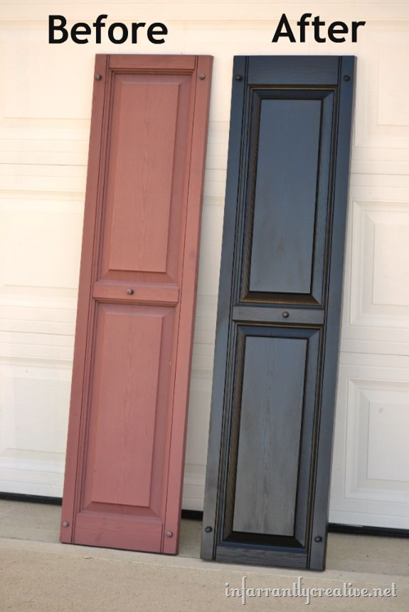 spray painting vinyl shutters how to....now to pick a color