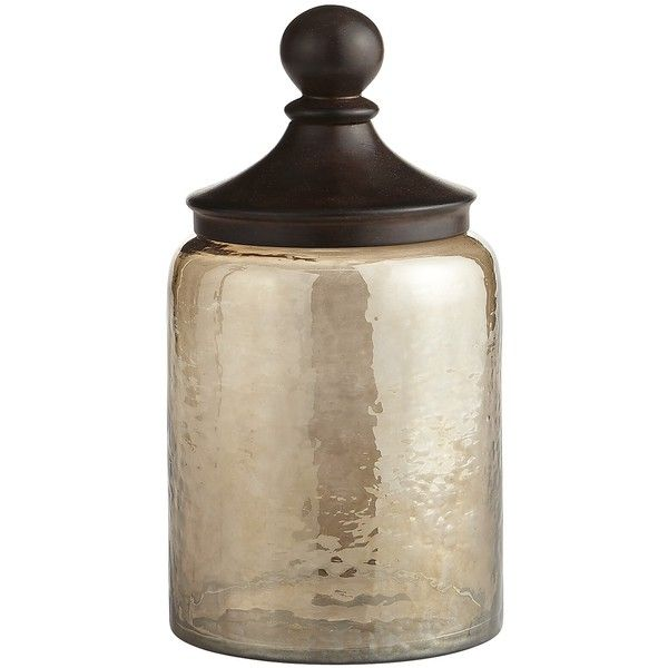 Pier 1 Imports Sundarra Glass Medium Canister ($40) ❤ liked on Polyvore featuring home, kitchen & dining, food storage containers, glass food storage containers, rustic canisters, glass cannisters, pier 1 imports and glass decanter