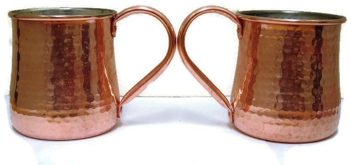 Williams-Sonoma Hammered Copper Imperial Pint Mugs Lot of 2 Moscow Mule Drinks  #WilliamsSonmoa