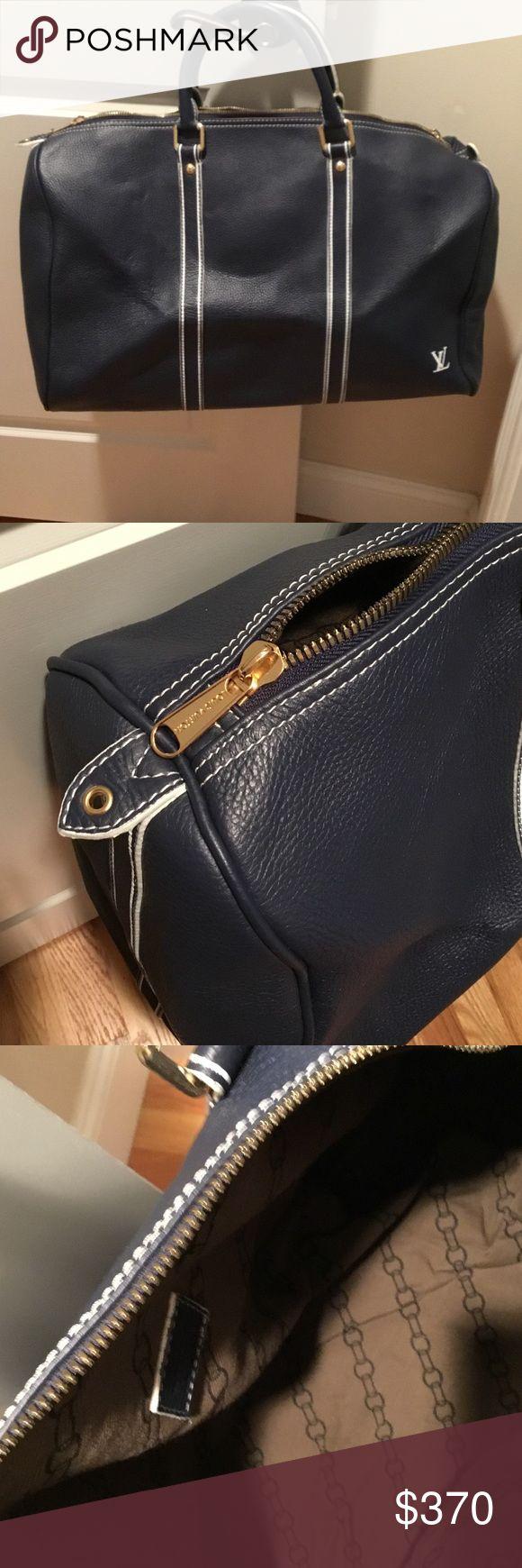 Authentic Louis Vuitton keepall 55 handbag Keepall 55 Navy Authentic Louis Vuitton good condition Louis Vuitton Bags Travel Bags
