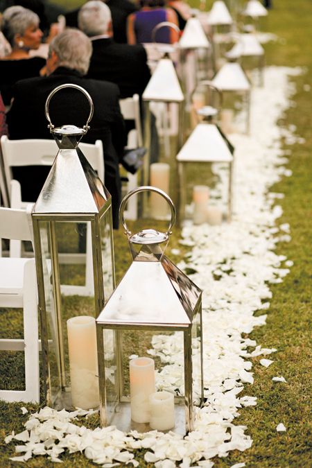 Lanterns line the aisle