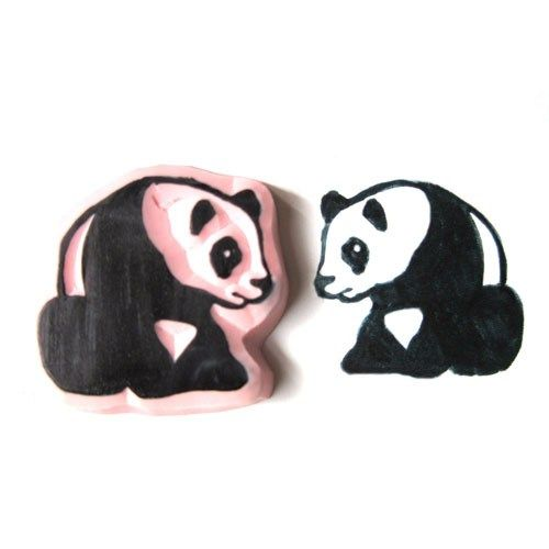 This hand carved stamp of a sweet little panda bear is carved out of a strong durable vinyl that will give great impressions on a variety of surfaces! All stamps are made to order, so the vinyl