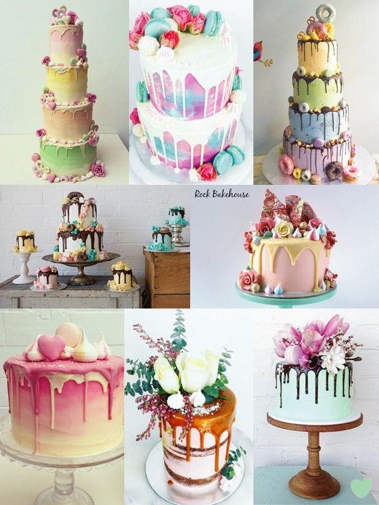#Ganache Drip #Wedding#Cakes Mood Board from The Wedding Community